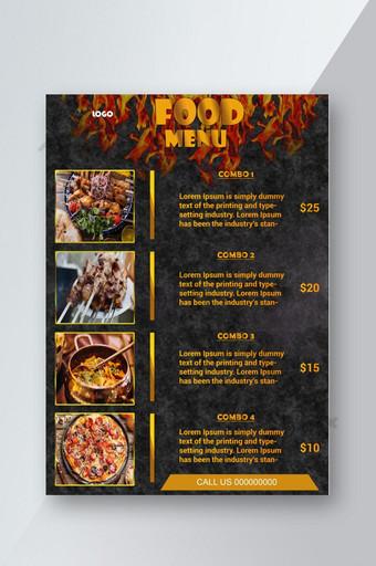 Modèle de Flyer de menu de nourriture très spécial Modèle PSD