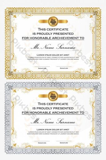 تصميم قالب شهادة احترافي متعدد الأغراض للطباعة الأنيقة الذهبية مجانًا قالب AI