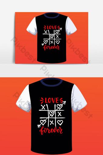 diseño de camiseta basado en texto simple feliz día de san valentín con elementos gráficos vectoriales Elementos graficos Modelo EPS