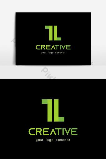 diseño de logotipo de letra tl tan creativo y simple Elementos graficos Modelo AI