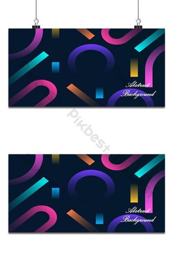 Fondo de banner multicolor abstracto Fondos Modelo AI