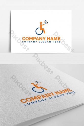 logotipo clásico de silla de ruedas para persona discapacitada Modelo EPS