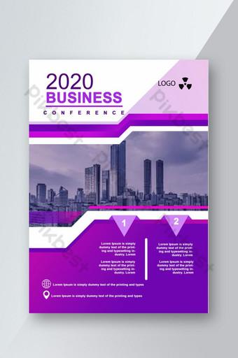 Modèle de Flyer de commerce violet spécial Modèle PSD