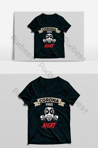 corona virus esté alerta nueva plantilla de diseño de camiseta de color oliva ncov problema Elementos graficos Modelo EPS