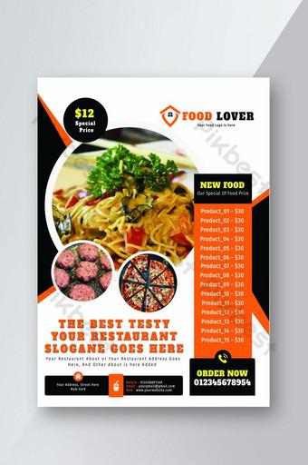 Modèle de Flyer de menu de restaurant Modèle PSD