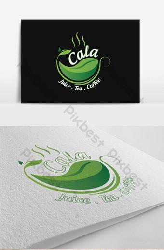 logo de coffeeeeeee con hojas verdes Modelo AI