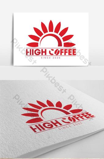 logo de coffeeeeeee alto en rojo Modelo AI