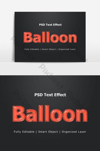 Ballon PSD Style de couche d'effet de texte 3D Éléments graphiques Modèle PSD