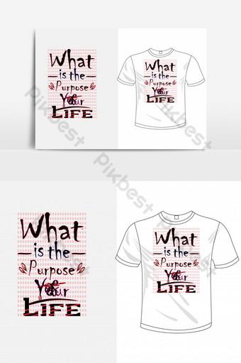 Quel est le but de votre vie basée sur le texte T-shirt Design Graphic Elements AI Éléments graphiques Modèle AI