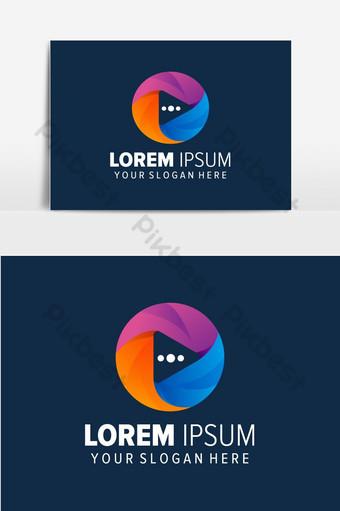 diseño de logotipo abstracto colorido o play Elementos graficos Modelo EPS