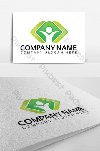 diseño de logotipo de cuidado de la salud de vida feliz Modelo EPS
