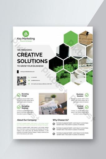 Corporate Business Flyer affiche brochure couverture conception mise en page fond deux couleurs Modèle AI