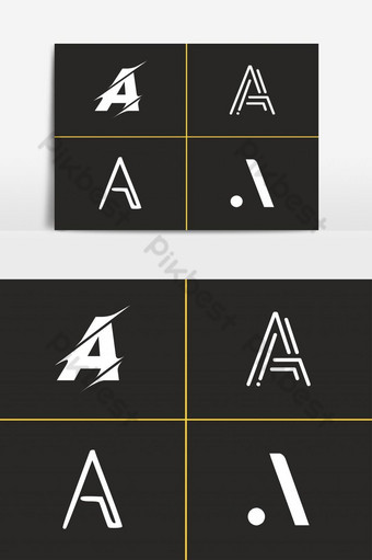 Set Of Letter A Logo Vector Template Collection Design PNG Images Template AI