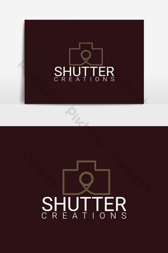 vector de diseño de logotipo de fotografía de tienda de cámara Elementos graficos Modelo EPS