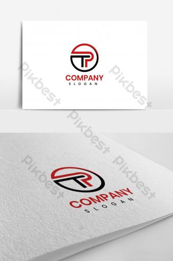 tp circle letter logo color rojo y negro vector logo elementos de plantilla de diseño para usted Modelo AI