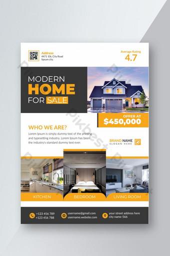 Brochure d'entreprise sur l'immobilier au format A4 Modèle AI