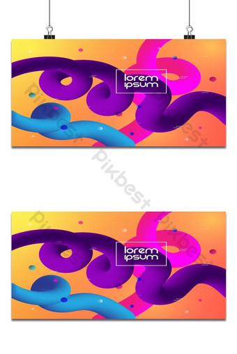 Forme de ligne courbe abstraite Conception fluide sur fond coloré Fond Modèle EPS