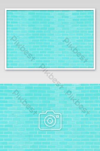 Ladrillos azules brillantes y textura de hormigón para el patrón de fondo abstracto Fotografía Modelo JPG