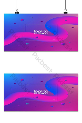 Abstract curve line shape. Fluid design on colorful background Backgrounds Template EPS