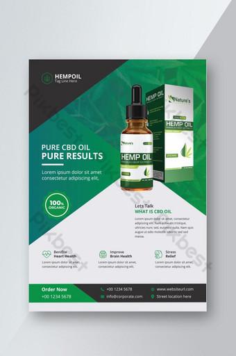 Flyer de produit de chanvre ou modèle de Flyer de santé médicale Modèle EPS