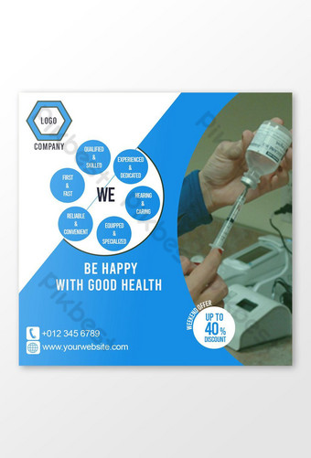 Medical Services Clinic Doctors Medicine Health Care Social Media Post Instagram facebook Template PSD