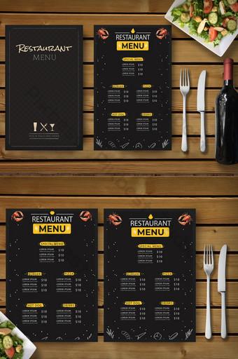 ร้านอาหารเมนูอาหารสไตล์โมเดิร์นสีสันสดใส แบบ EPS