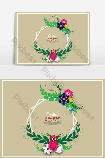 vector de marco floral creativo Elementos graficos Modelo EPS