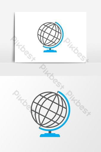 dibujado a mano herramienta de aprendizaje globo icono ilustración globo mundo tierra planeta mapa icono vector Elementos graficos Modelo EPS