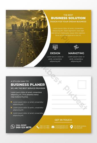 Modèle de Carte postale de fournisseur de solution d'entreprise Modèle AI