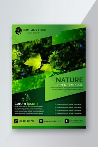 Nature magnifique flyer vert Modèle AI
