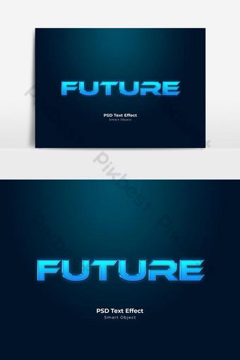 Style de calque d'effet de texte pSD futur Éléments graphiques Modèle PSD