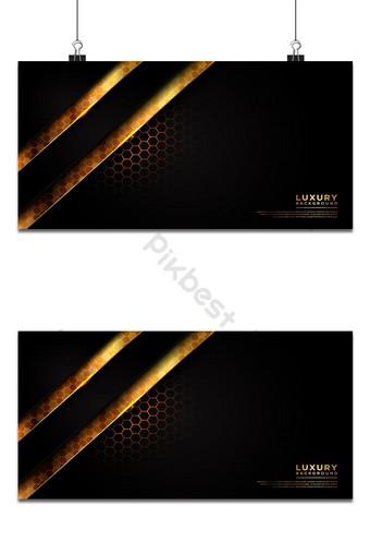 Fondo moderno de lujo oscuro y dorado con patrón hexagonal superpuesto gris oscuro Fondos Modelo AI