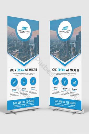 Carte de support d'entreprise ou modèle de flyer Dl Rollup banner Design Business Rack Card Modèle AI