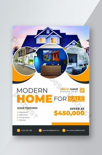 Immobilier d'entreprise Flyer format A4 Modèle AI