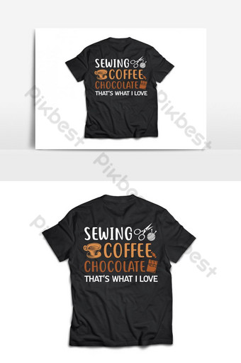 coser coffeeeeeee chocolate t shirt diseño vectorial Elementos graficos Modelo AI
