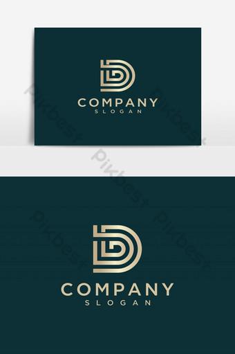 letra d logo inicial letra d icono elementos de plantilla de diseño vector de diseño de logotipo Elementos graficos Modelo AI