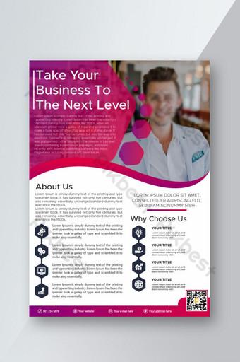 عمل نشرة إعلانية قالب مع صور ناقل حر تصميم نشرة إعلانية للشركات تنزيل مجاني قالب EPS