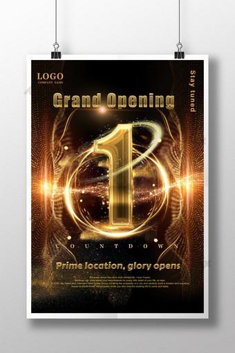poster kreatif real estat grand opening emas hitam angin Templat PSD