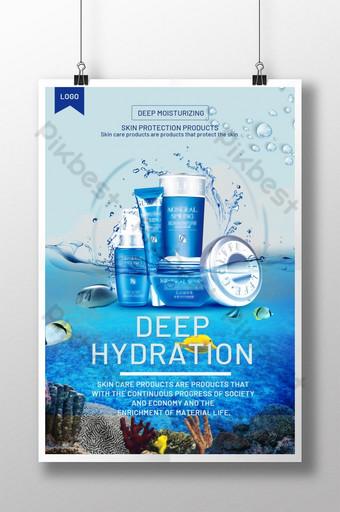 Kosmetyki Blue Ocean high end wiosna nowy plakat Szablon PSD