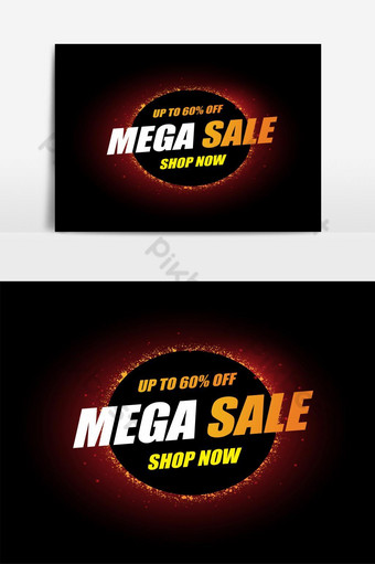 تصميم مجردة لقالب البيع الضخم لإعلانات العروض الخاصة والمبيعات والخصومات صور PNG قالب AI