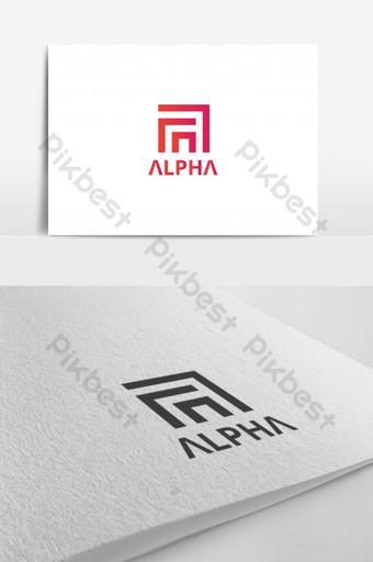elegante letra a logo a carta logo Modelo AI