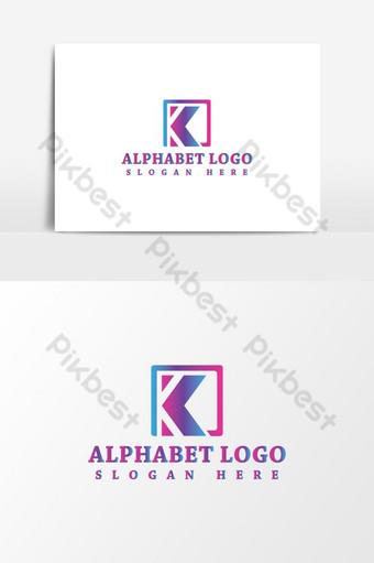 plantilla de diseño de logotipo de alfabeto k Elementos graficos Modelo AI