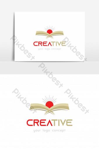 increíble diseño de logotipo de sol colorido creativo simple Elementos graficos Modelo AI