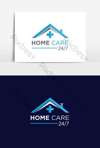 logotipo médico de atención médica domiciliaria Elementos graficos Modelo AI