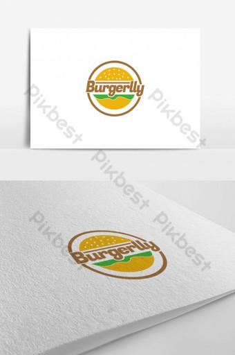 plantilla de diseño de logotipo de hamburguesa Modelo AI