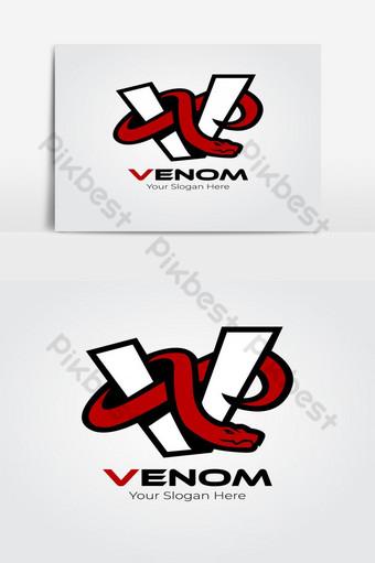 logo de juegos de deportes de serpiente roja Elementos graficos Modelo AI