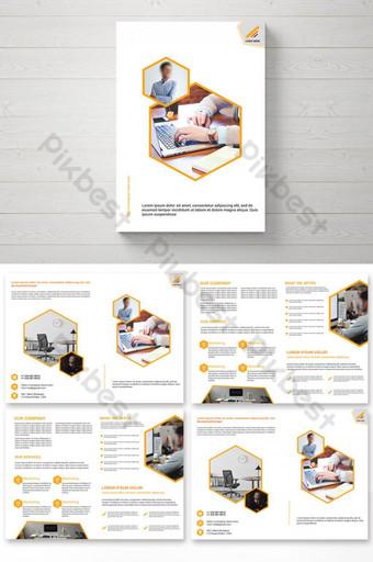 дизайн брошюры корпоративного бизнеса шаблон PSD