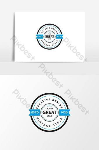 plantilla de diseño de logotipo retro vintage retro coffeeeeeee emblema insignia logo retro insignia vintage Elementos graficos Modelo EPS