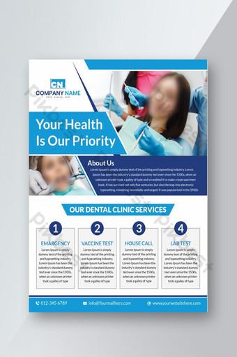 modèle de flyer dentaire moderne photoshop Modèle PSD