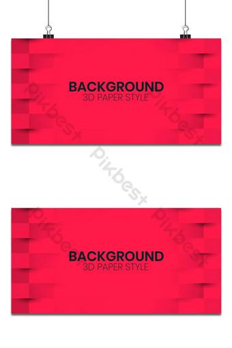 Fondo abstracto rojo con estilo de arte de papel 3d Fondos Modelo PSD